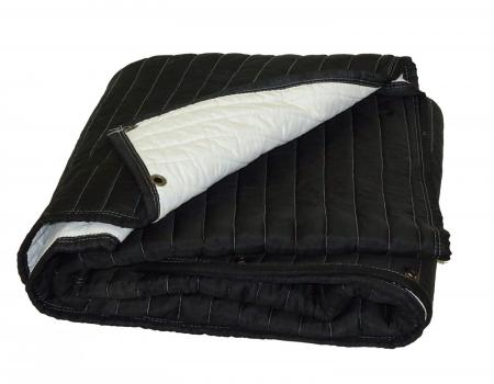 AcousticBlanket-Black_White-with-Grommets 72g